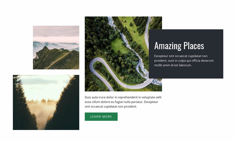 Breathtaking places Website Template