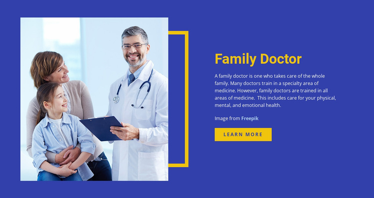 Healthcare and medicine family doctor Website Template