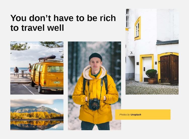 World tis full of adventures CSS Template