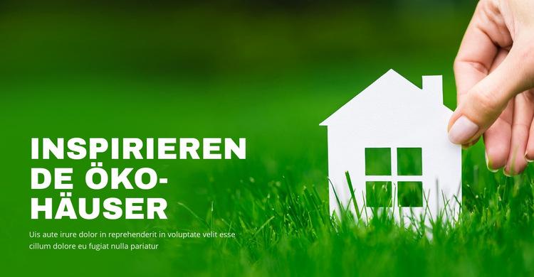 Inspirierende Öko-Häuser Website-Vorlage