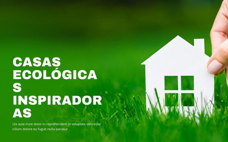 Casas ecológicas inspiradoras Plantilla de sitio web