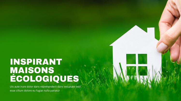 Maisons écologiques inspirantes Modèle de site Web