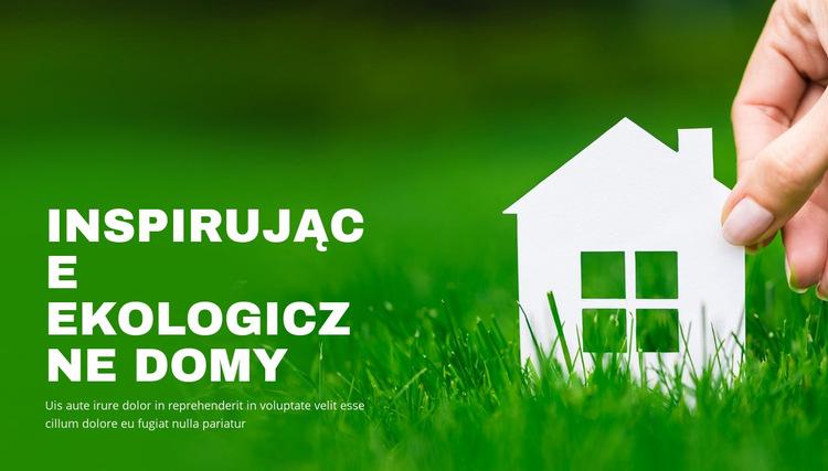 Inspirujące ekologiczne domy Szablon witryny sieci Web