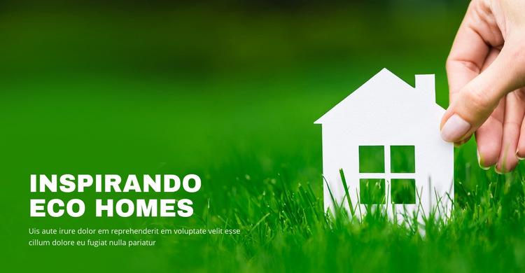 Casas ecológicas inspiradoras Modelo de site