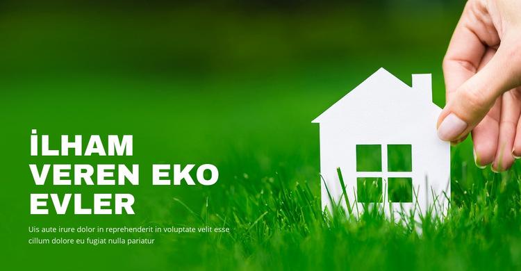 İlham veren eko evler Web Sitesi Şablonu