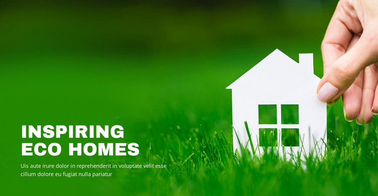 Inspiring eco homes WordPress Theme