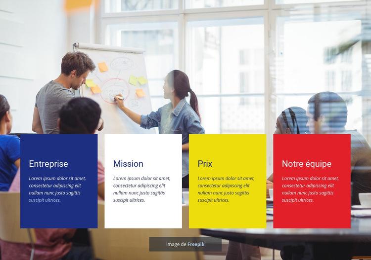 Conseil en compétences en communication Modèle de site Web