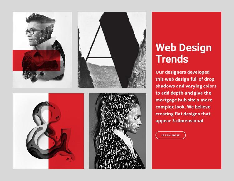 10 Web design trends  HTML Template