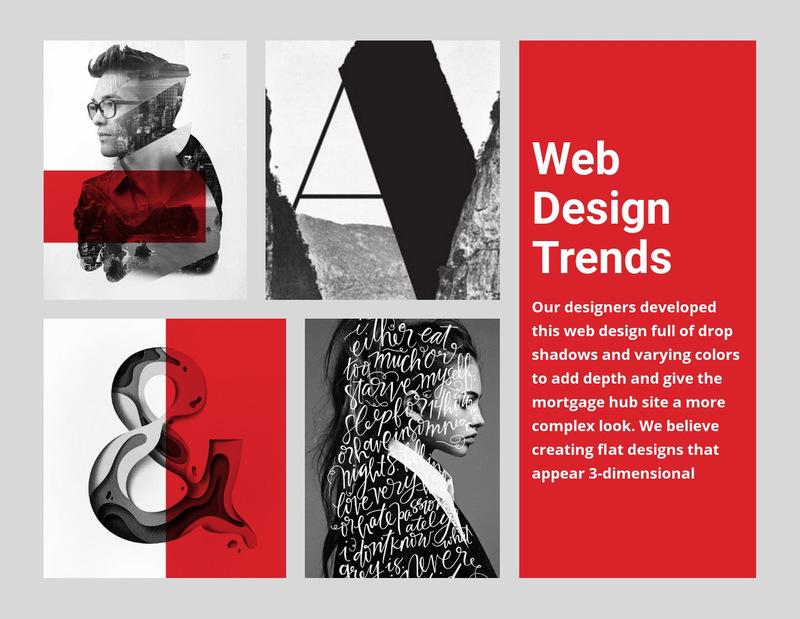 10 Web design trends  Web Page Designer