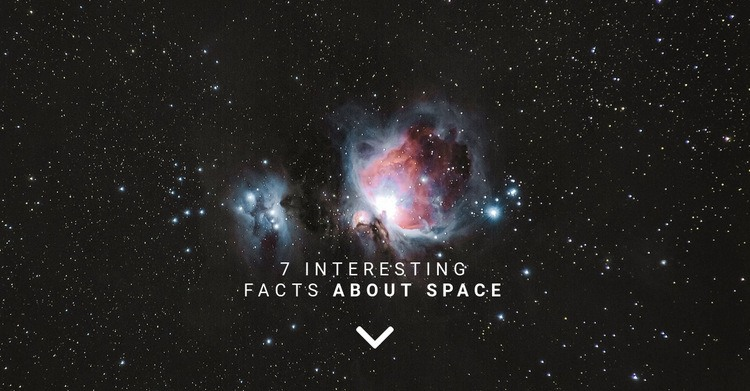 Facts about space  Html Code