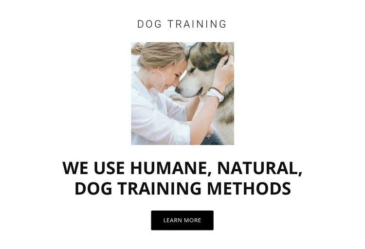 Humane training methods HTML Template