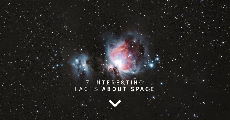 Facts about space  Html Website Builder