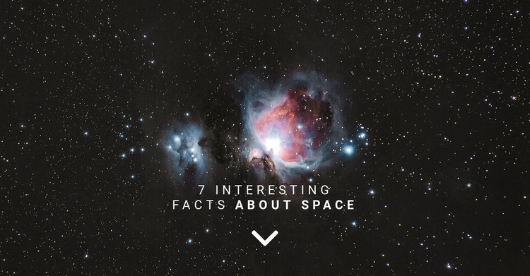 Facts about space  Joomla Page Builder