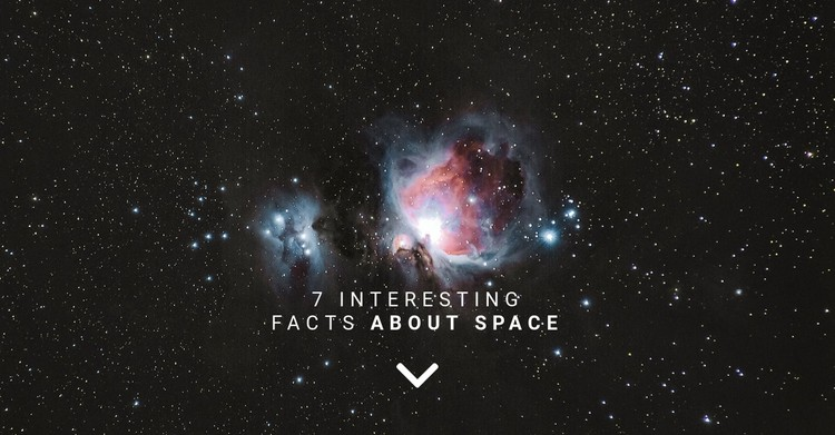 Facts about space  Static Site Generator