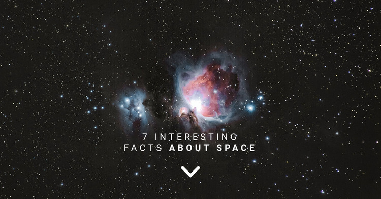 Facts about space  Website Mockup