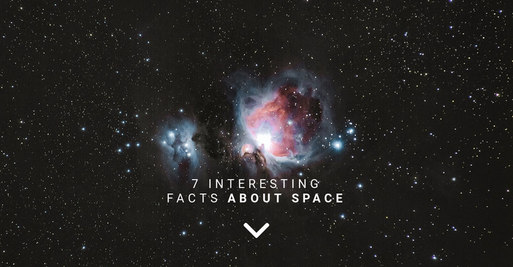 Facts about space  Website Template