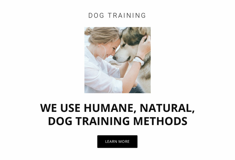 Humane training methods Website Template