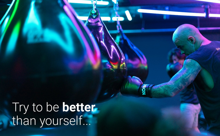 Motivation and to be better Website Template
