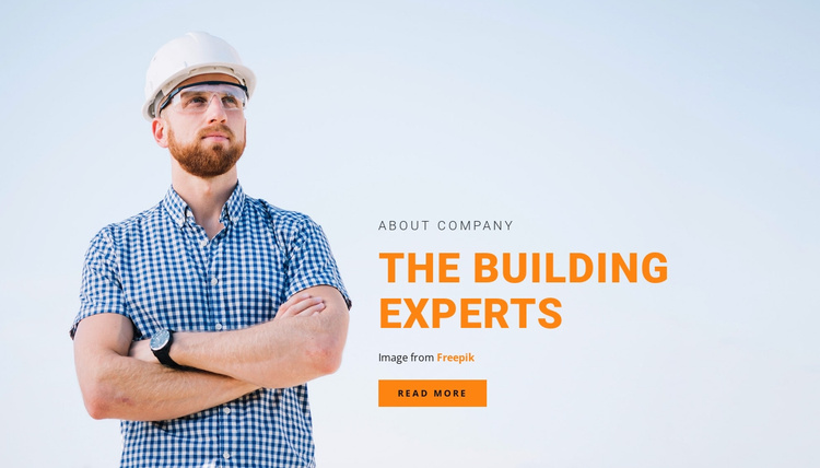 The building experts  Landing Page