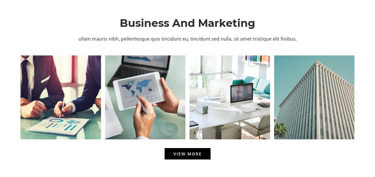 Business and marketing  One Page Template
