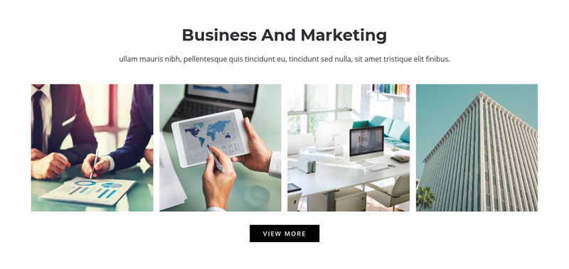 Business and marketing  Web Page Designer