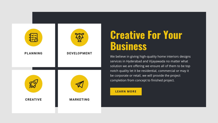Creative for Your Business One Page Template