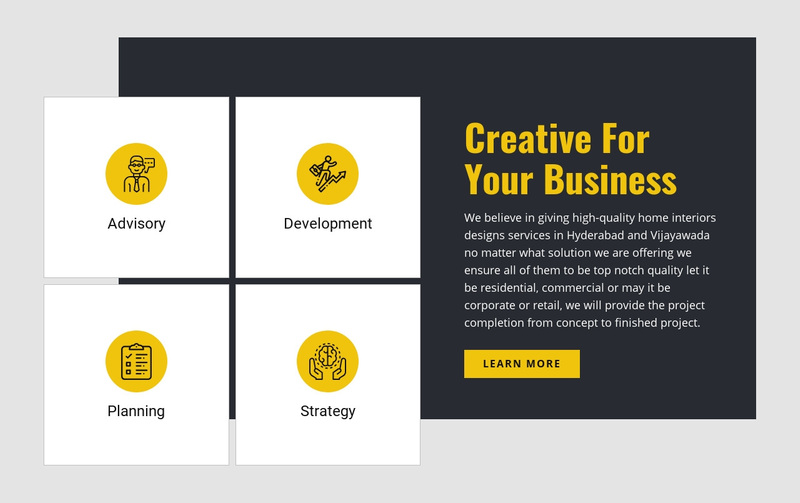 Creative for Your Business Web Page Design