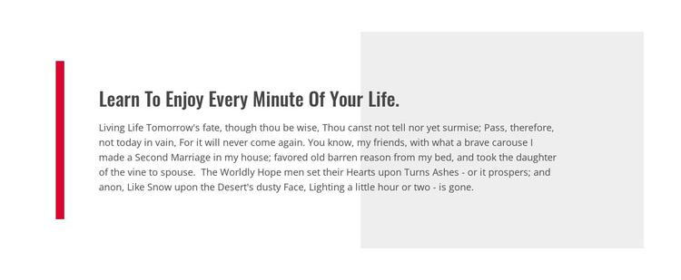 Learn To Enjoy Your Life Joomla Template