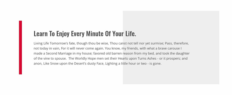 Learn To Enjoy Your Life Website Template