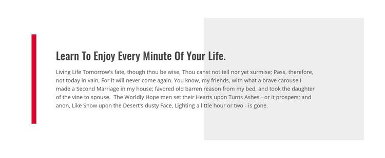 Learn To Enjoy Your Life WordPress Theme