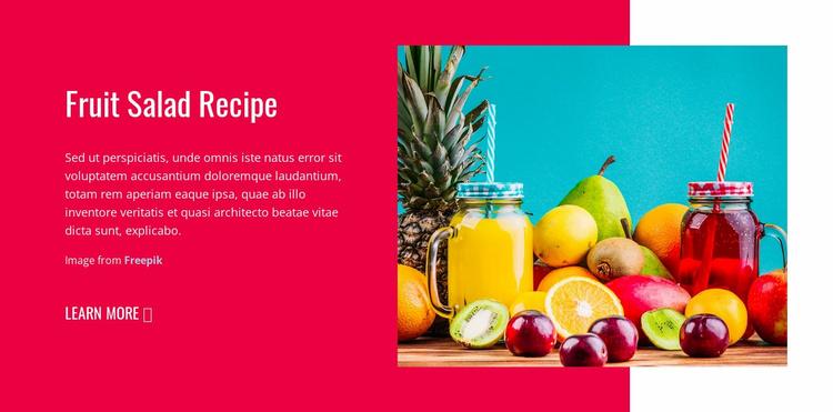 Fruit Salads Recipes Website Template
