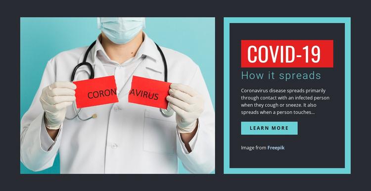 Symptoms of COVID-19 Joomla Template