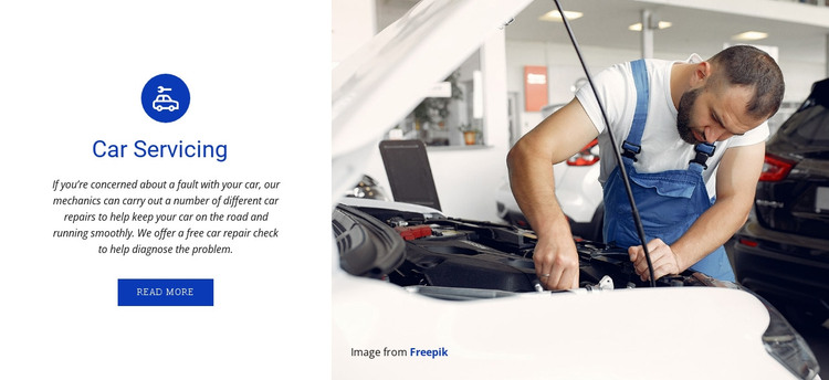 Car servicing and repairing  HTML Template