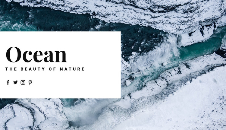 Nordic ocean travel HTML Template