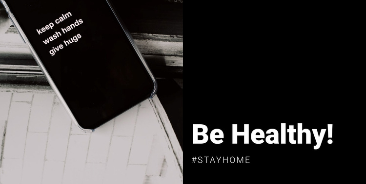 Be healthy and stay home Website Template