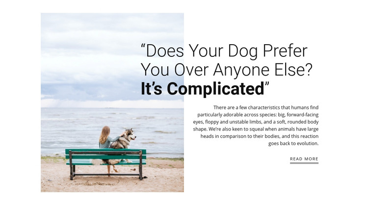 dog and owner relationship Homepage Design