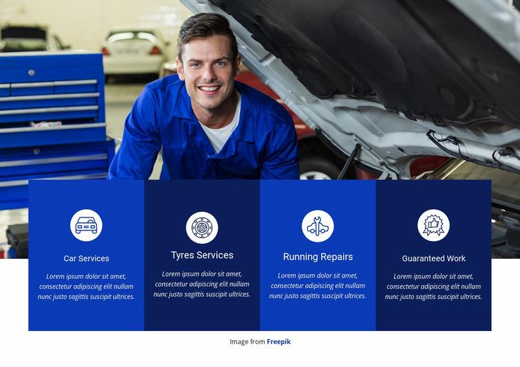 Car repair and services WordPress Website Builder