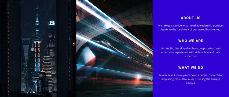 Modern city technology HTML5 Template