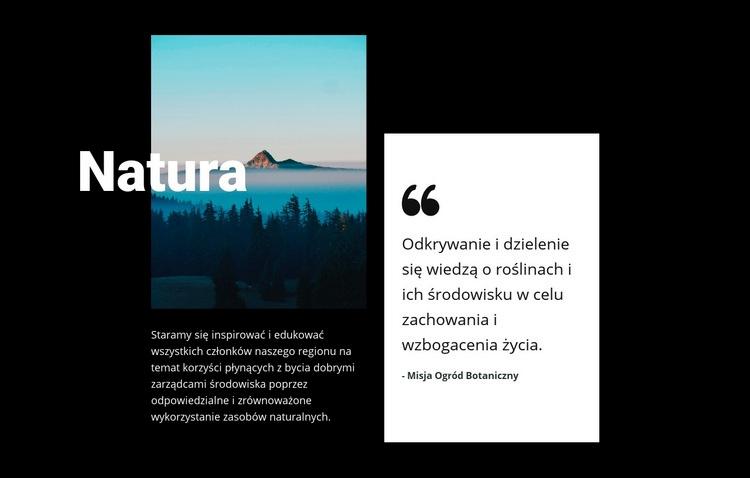 Widok na krajobraz przyrody Szablon witryny sieci Web
