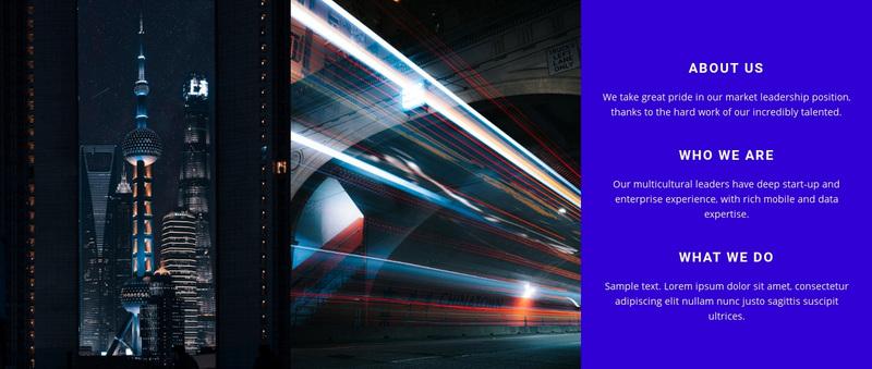 Modern city technology Web Page Design