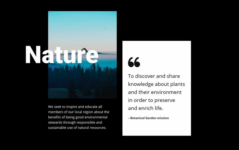 Nature landscape view  Web Page Designer