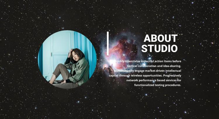 Modern art studio Website Mockup