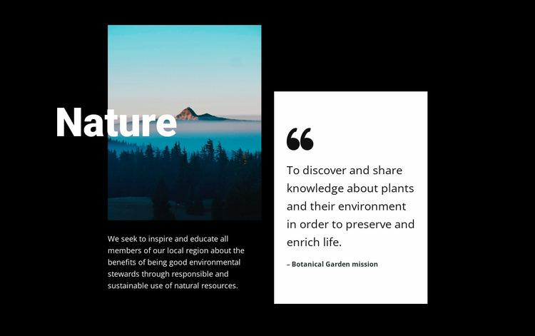 Nature landscape view  Website Mockup