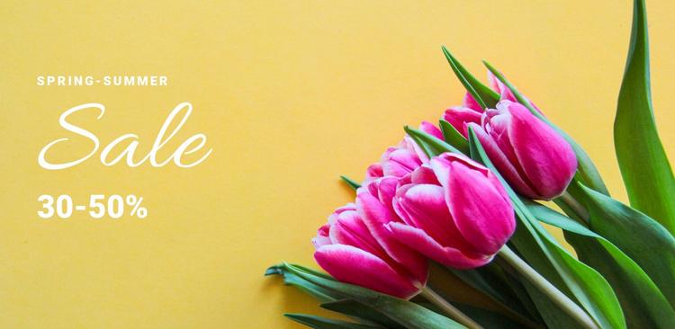 Spring discounts Website Template