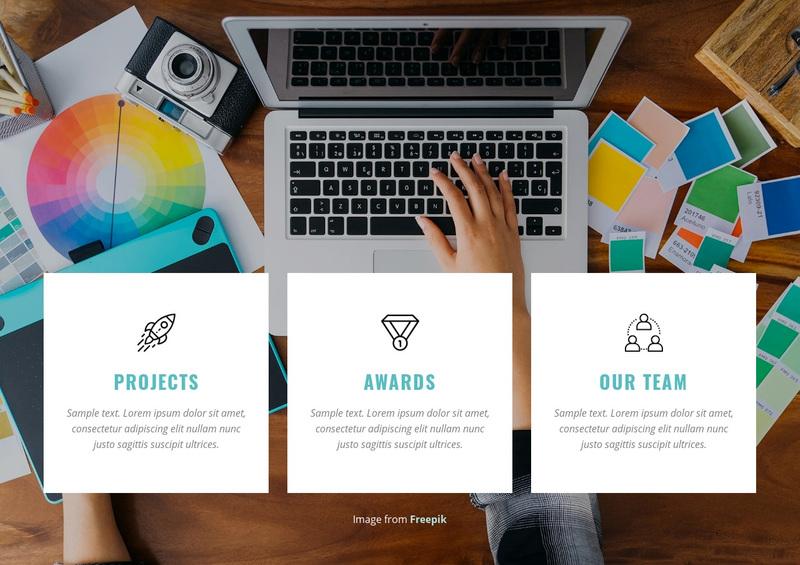 Brand transformation studio Web Page Design