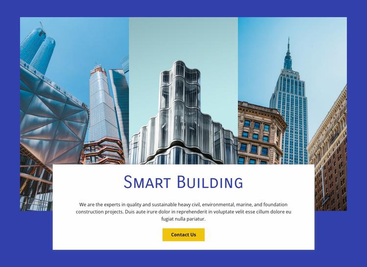 Smart Building Technologies Website Template