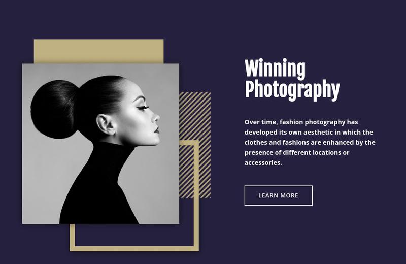 Winning Fashion Photography Web Page Design