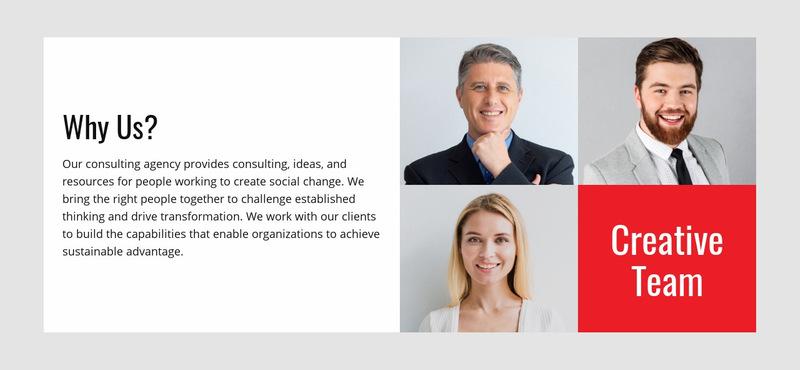 Creative Team Web Page Designer