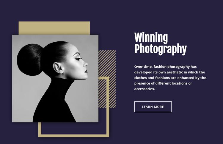 Winning Fashion Photography Landing Page