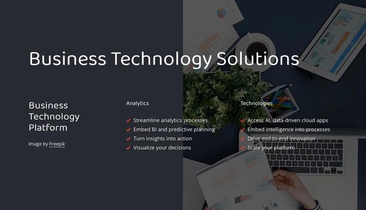 Business technology platform Html Code Example
